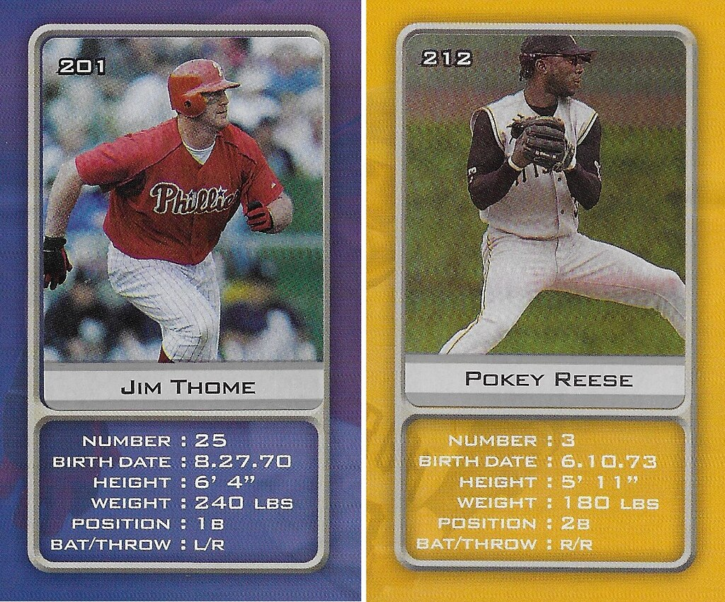 2003 Sports Vault MLB Stickers (Jim Thome-Pokey Reese)
