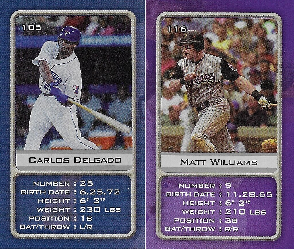 2003 Sports Vault MLB Stickers (Carlos Delgado-Matt Williams)
