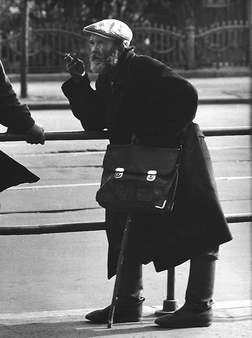 1963. Старик с портфелем. Павелецкий вокзал