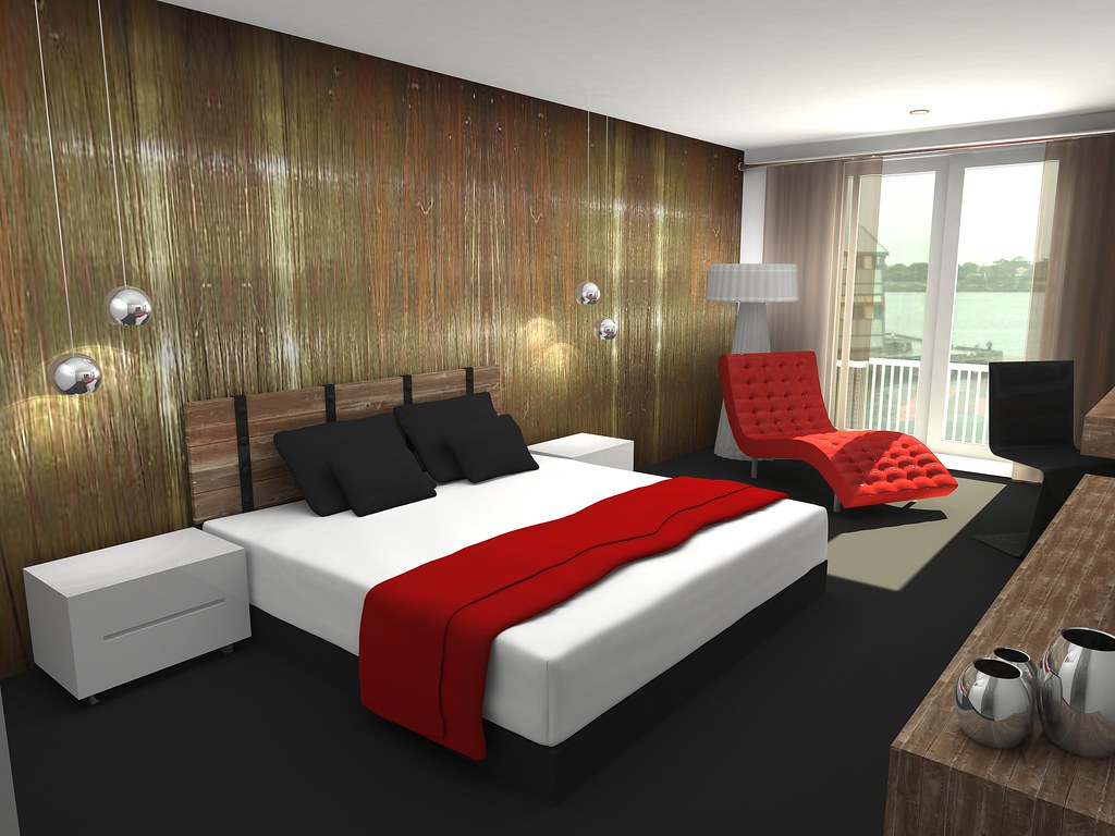 Bedroom interior design, architectural 3d modeling [3600x2700]