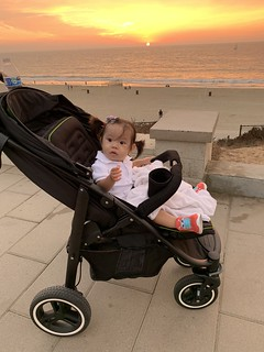 A Walk with Nevaeh - Sunset in Redondo Beach