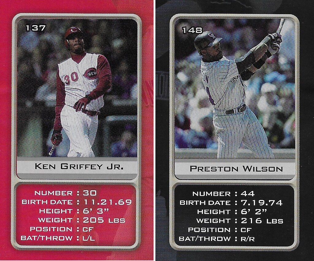 2003 Sports Vault MLB Stickers (Ken Griffey Jr-Preston Wilson)