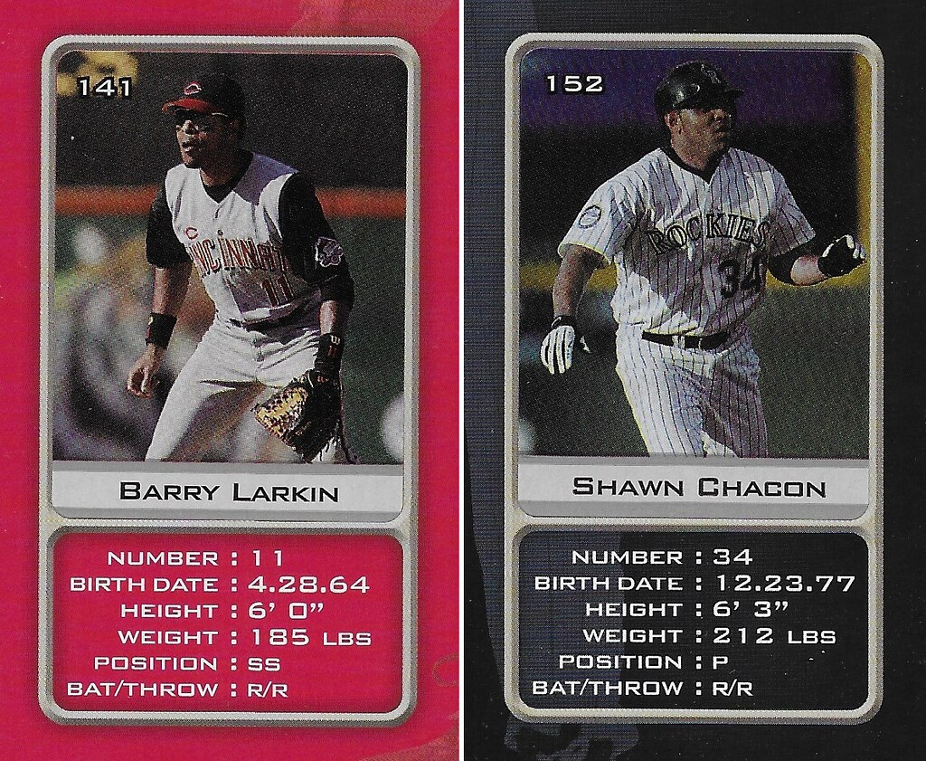 2003 Sports Vault MLB Stickers (Barry Larkin-Shawn Chacon)