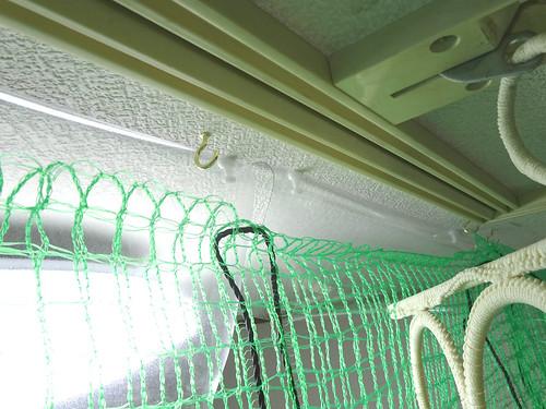 放鳥用の部屋の仕切りネット