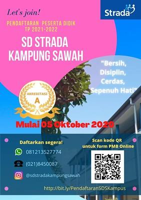 PENERIMAAN PESERTA DIDIK BARU TP 2021-2022 SD STRADA KAMPUNG SAWAH