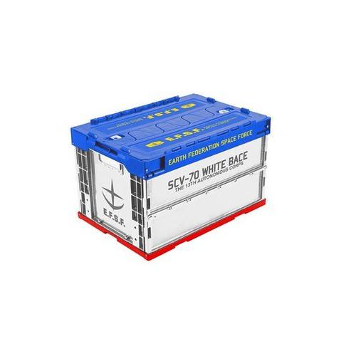 PLEX《機動戰士鋼彈》白色基地 / 吉翁公國 折疊收納箱 存放重要零件與V作戰說明書!