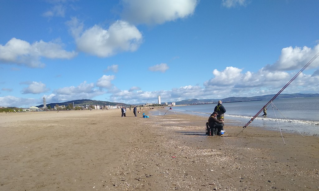 fishing on an October day, Swansea