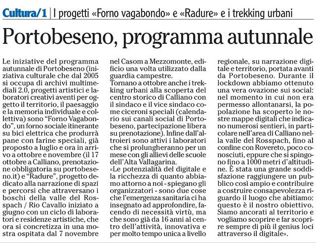 L'Adige 16 ottobre 2020