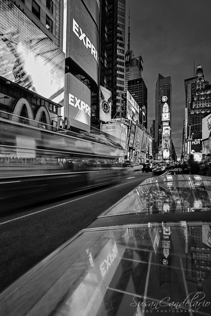 Times Square NYC BW