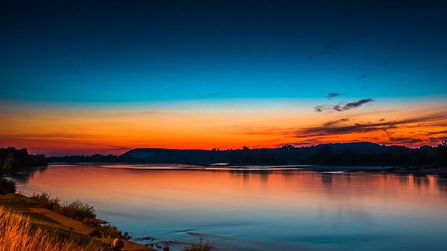 River in blue