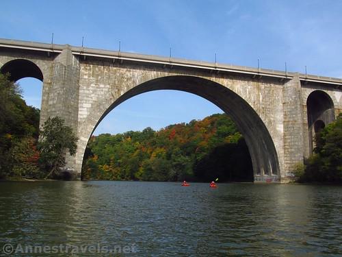 The Veterans Memorial Bridge over the Genesee River, Rochester, New York