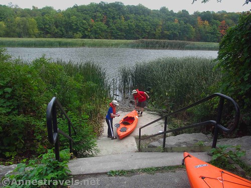 The more official kayak launch in Turning Point Park, Rochester, New York