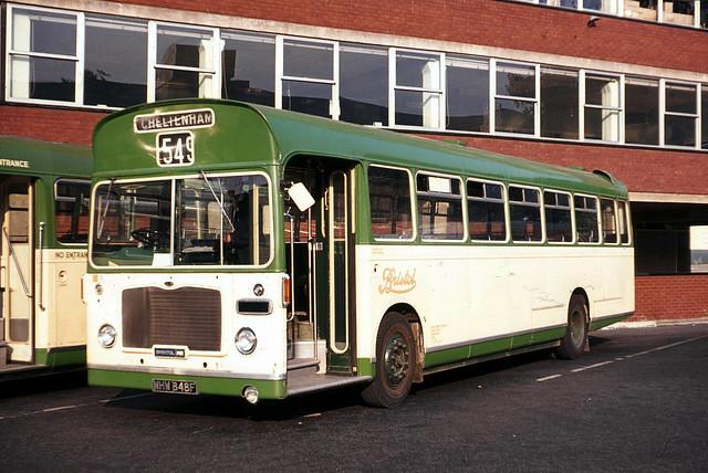Bristol Omnibus Co . 1039 MHW848F . Gloucester Bus Station , Gloucestershire . Sunday evening 05th-September-1971 .