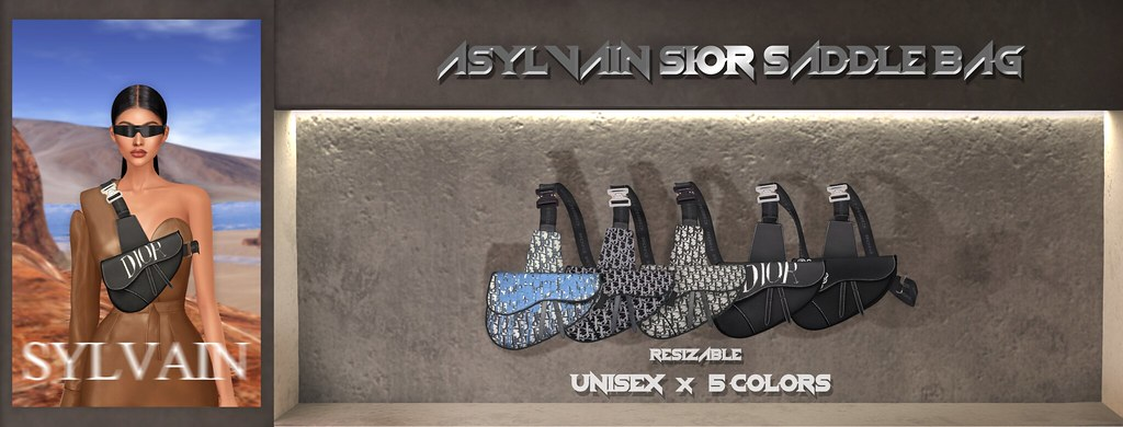"""ASYLVAIN""-SIOR OBLIQUE SADDLE BAG  OUT NOW!"