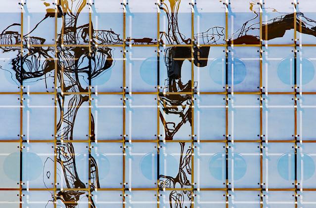Crane building reflection