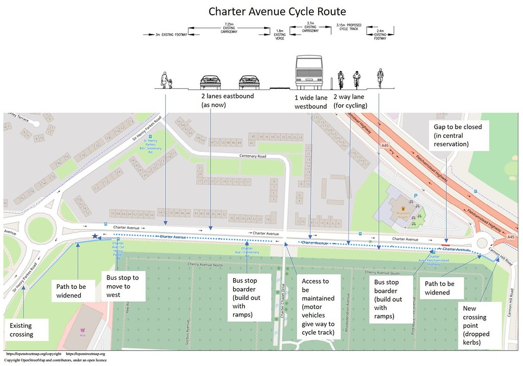 Charter Ave Route Plan