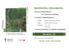 Información sobre las inscripciones para la VI Marcha Solidaria contra el Cáncer.