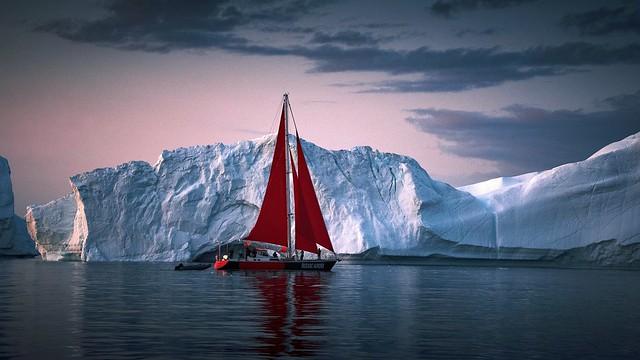Red sailboat 2.