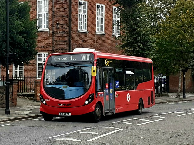 Go-Ahead London WS63, SM15WCN on Route W10 at Enfield Town, Cecil Road