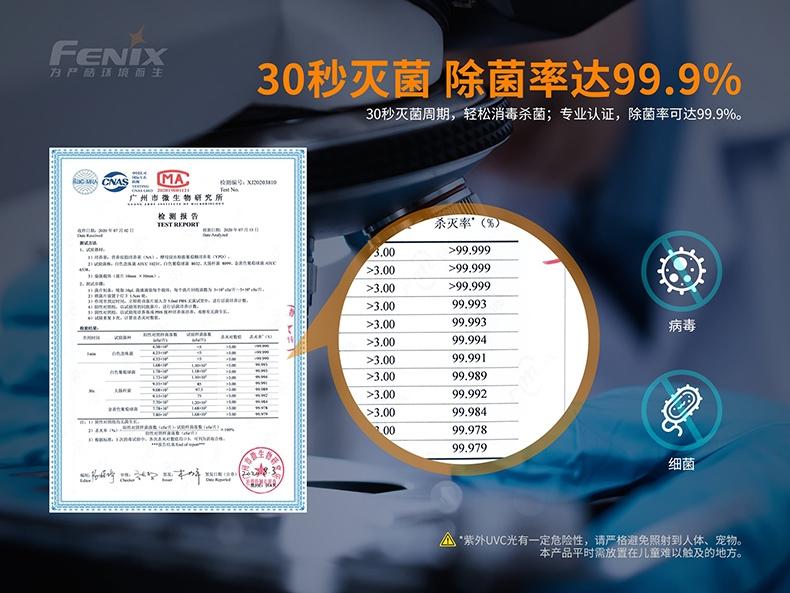 Fenix LD32 UVC 1200流明  LITEON 10mW UV-C LED -4