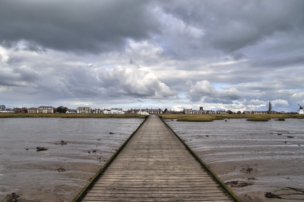 Down a long pier at Lytham, Lancashire