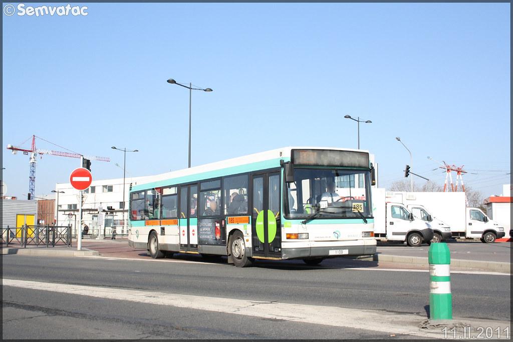 Heuliez Bus GX 317 (Renault Citybus) – RATP (Régie Autonome des Transports Parisiens) / STIF (Syndicat des Transports d'Île-de-France) n°1109