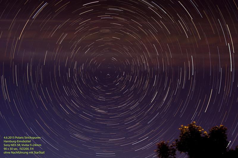 2015 Star Trails, Strichspuren, Polaris