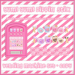 Kawaii Couture Dippin Stix Vending Machine Ad