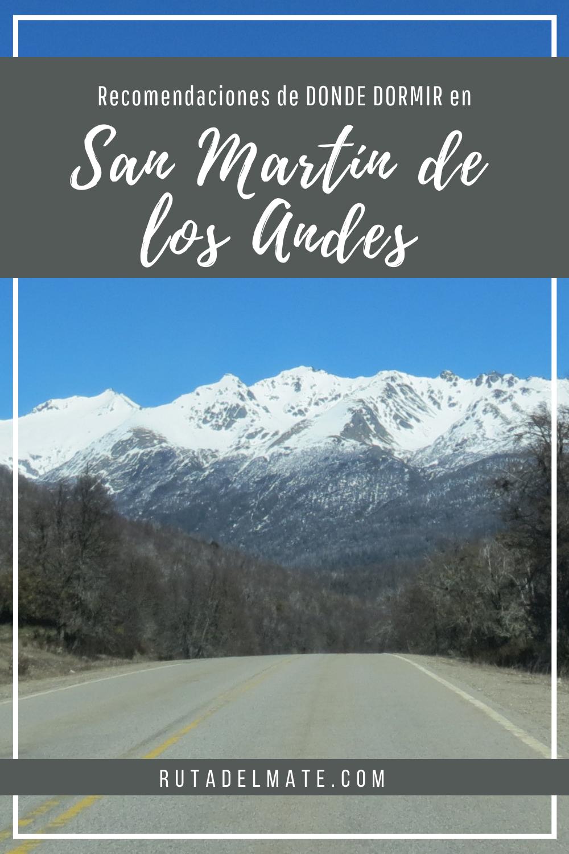 Donde dormir en San Martín de los Andes, alojamiento