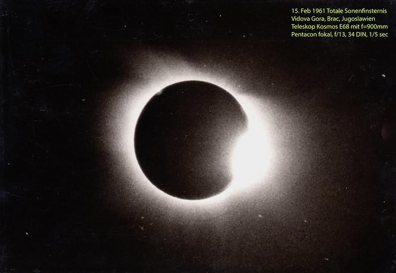 Totale Sonnenfinsternis 1961