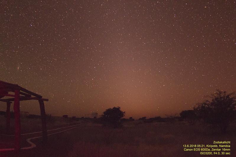 Zodiakallicht auf Kiripotib