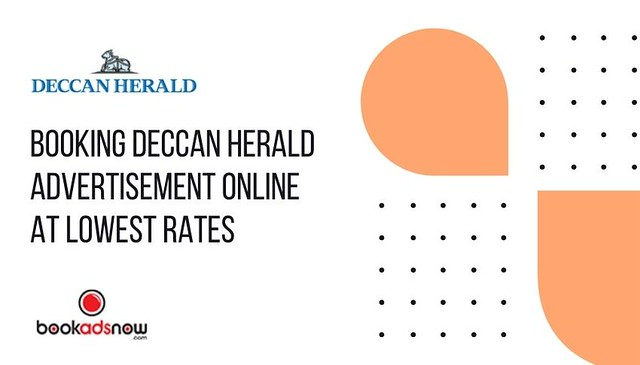 Booking Deccan Herald Advertisement Online at Lowest Rates