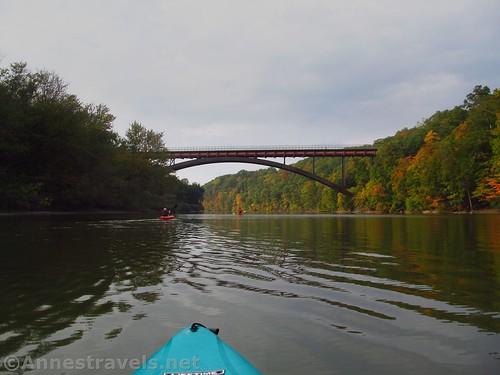The pedestrian bridge between Seneca and Maplewood Parks, Rochester, new York