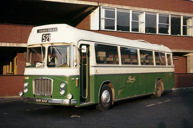 Bristol Omnibus . Co . 2051 NHW305F . Gloucester Bus Station , Gloucestershire . Sunday evening 05th-September-1971 .