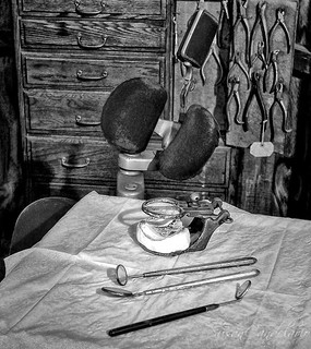 Old Fashioned Dental Instruments BW | by Susan Candelario