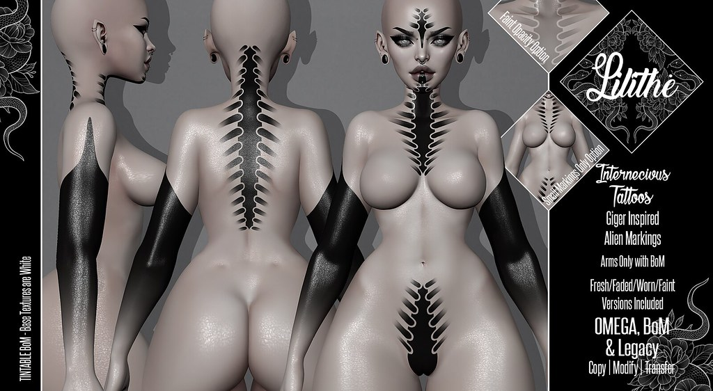 Lilithe'// Internecivus Tattoos @ Necrotize