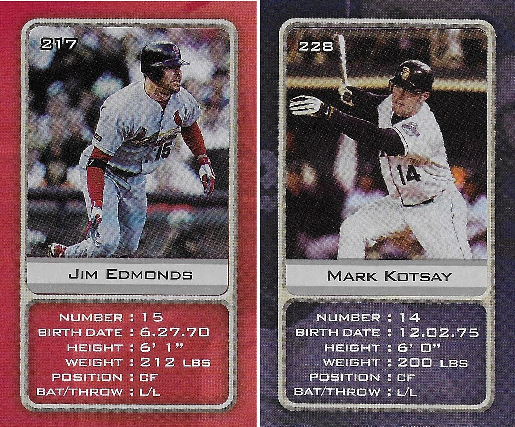 2003 Sports Vault MLB Stickers (Jim Edmonds-Mark Kotsay)