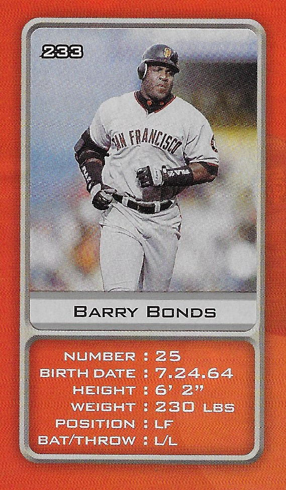 2003 Sports Vault MLB Stickers (Barry Bonds)