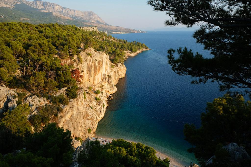 View of Nugal Beach, Makarska Riviera, Croatia
