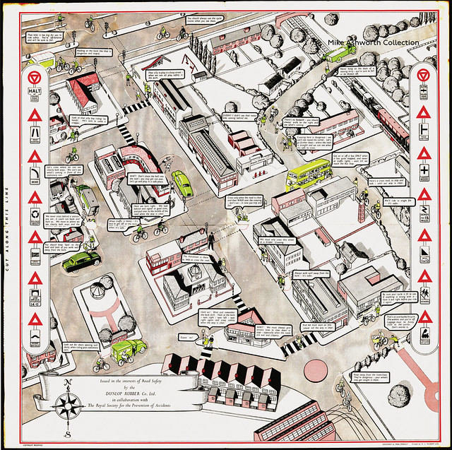 The Dunlop Rubber Company, Birmingham ; The Road Safety Town Plan, c1955