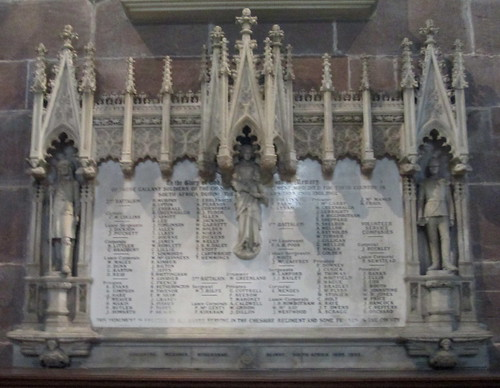Boer War Memorial, Chester Cathedral