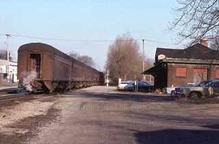 2020-10-16. Pennsy Station 4-8-1977 Valpo Dummie photo by Bob Schmidt