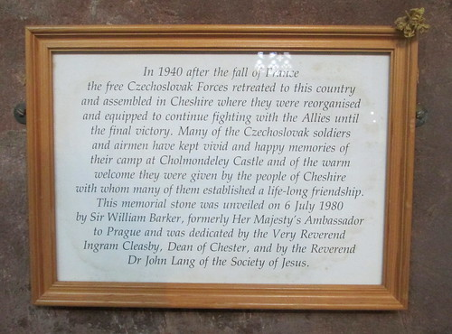 Chester Cathedral, Czech Memorial Information Board
