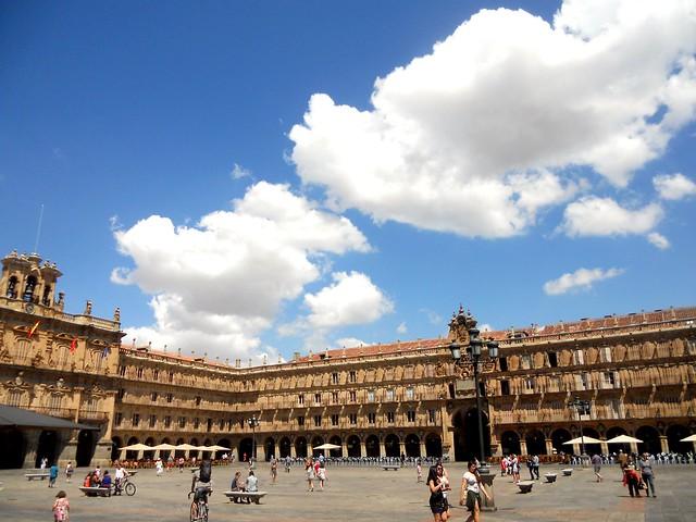 Nubes sobre la plaza!!!