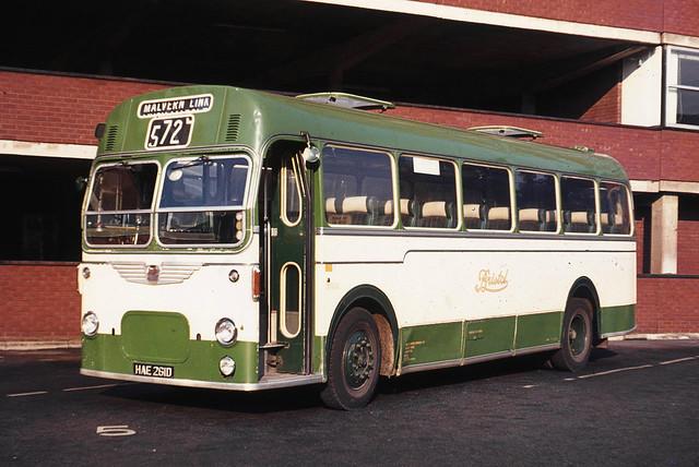 Bristol Omnibus Co. 2417 HAE261D . Gloucester Bus Station , Gloucestershire . Sunday evening 05th-September-1971 .