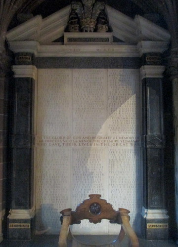 Great War Memorial, Chester Cathedral