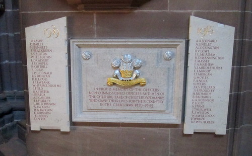 Second World War Memorial, Chester Cathedral
