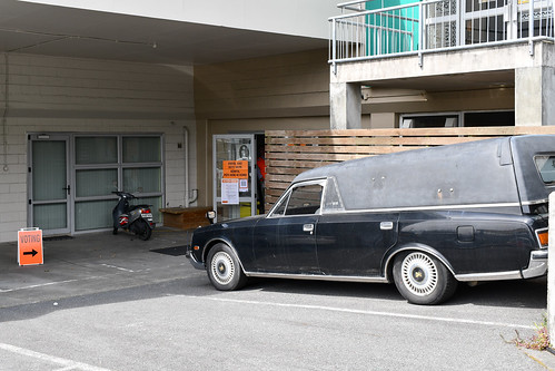 <p>1995 Toyota Century. It's election day in NZ today, but thankfully there's no symbolism in this hearse at a polling station in Kilbirnie.</p>