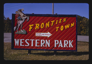 Frontier Town sign, North Hudson, New York (LOC)