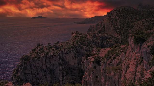 Au Couchant...Parc National des Calalnques-Marseille